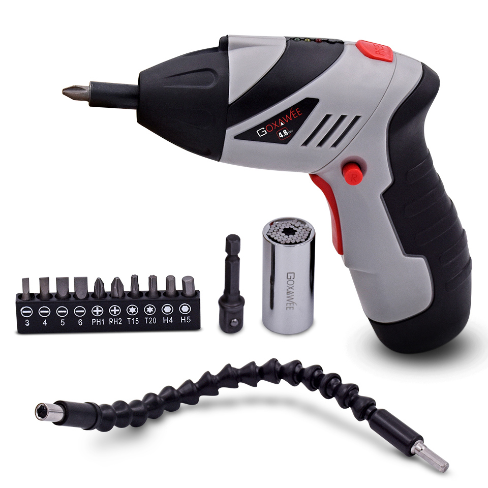 4,8 V juhtmeta mini elektrikruvikeeraja majapidamises laetav - Elektrilised tööriistad - Foto 1