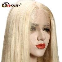 Glueless 613 полный кружево парик их натуральных волос с ребенком волос Реми кружевные парики для черный для женщин Бразильский 613 парик сплетни