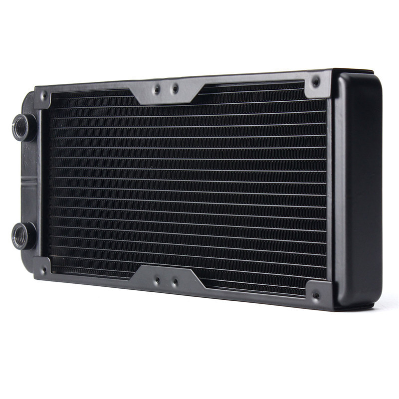 240MM Aluminum Computer Radiator Water Cooling Radiator Water Cooler 18 Tubes Heat Exchanger CPU Heat Sink For Laptop Desktop durable 22dba 12v dc desktop computer cpu radiator computer cpu cooler heat sink fan 4 tubes for amd for intel