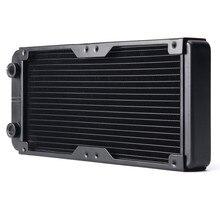 240MM Aluminum Computer Radiator Water Cooling Radiator Water Cooler 18 Tubes Heat Exchanger CPU Heat Sink For Laptop Desktop