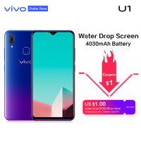 vivo U1 6.2'' Screen 4G RAM 64G ROM Smartphone Snapdragon439 Octa Core 4030mAh Face ID and Fingerprint Android 8.1 Mobile Phone