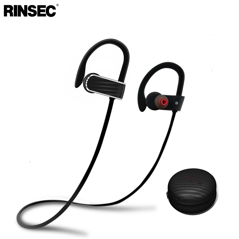 Rinsec R13 IPX5 Waterproof  Headset Running Sport Wireless Earphone Bluetooth 4.1 Stereo Headphone with Gift Storage Box portable waterproof earphone storage box drop resistance protective case for headphone mp3 player headset amp earplugs earbuds