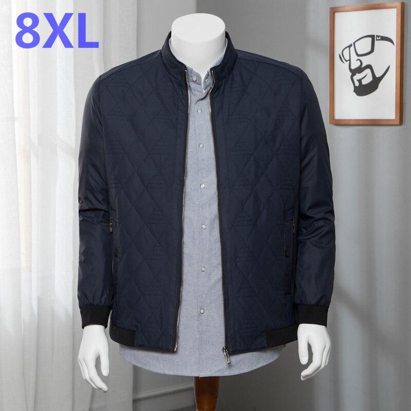 Большой код 8XL 7XL 2018 брендовая новая осенне зимняя мужская повседневная куртка пальто Мужская модная брендовая одежда куртки мужские пальто