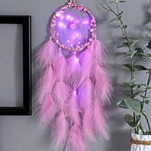Светодиодная лампа «Ловец снов» поделки с перьями ветряные колокольчики