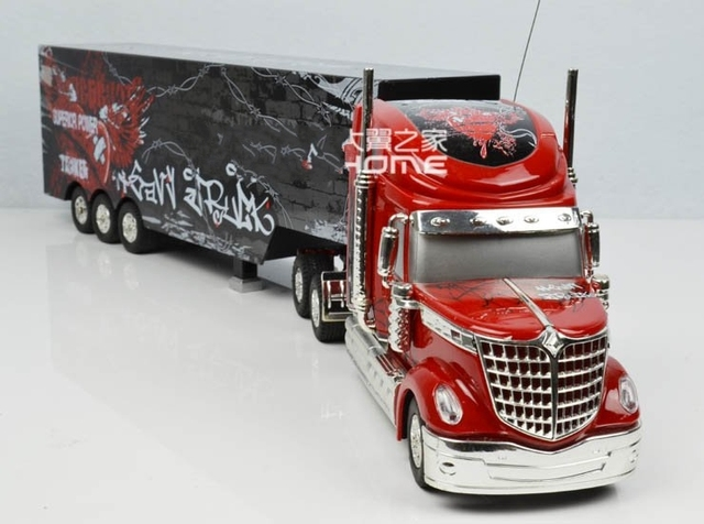 Detachable Remote Control Big Size 1:32 RC 6CH Container Heavy Truck With  Lights And Idea