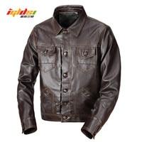 Leather Jacket Men Design Stand Collar Male Casual Motorcycle Leather Jacket Men's Fashion Veste en cuir genuine jackets jaqueta