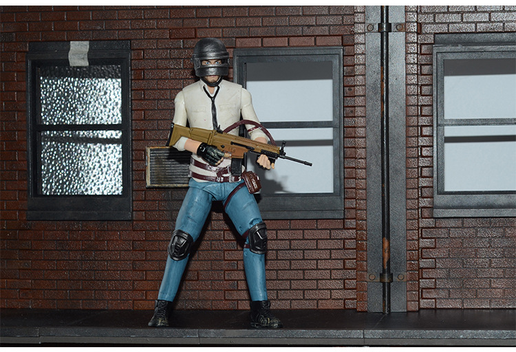 Joints Moveable Playerunknowns Battlegrounds  PUBG spot to eat chicken tonight Bjd Action Figure Toys 20cm