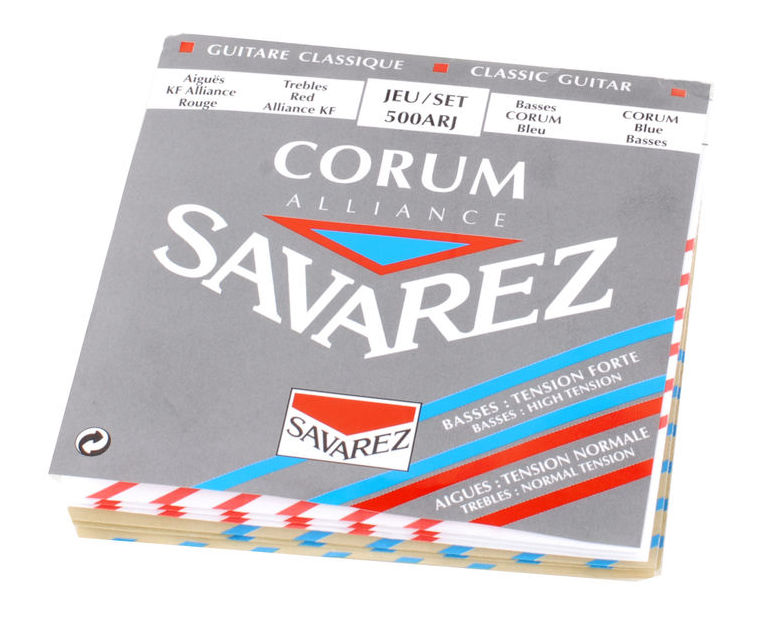 Savarez 500ARJ Alliance/Corum NT/HT Classical Guitar Strings, Full Set savarez 510 cantiga series new cristal alliance cantiga nt classical guitar strings full set 510mr