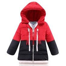 2016 новая Девушка вниз зимние куртки пальто Хлопка длинные толстые теплые детские зимние одежды Верхняя одежда и Пальто утка пуховик