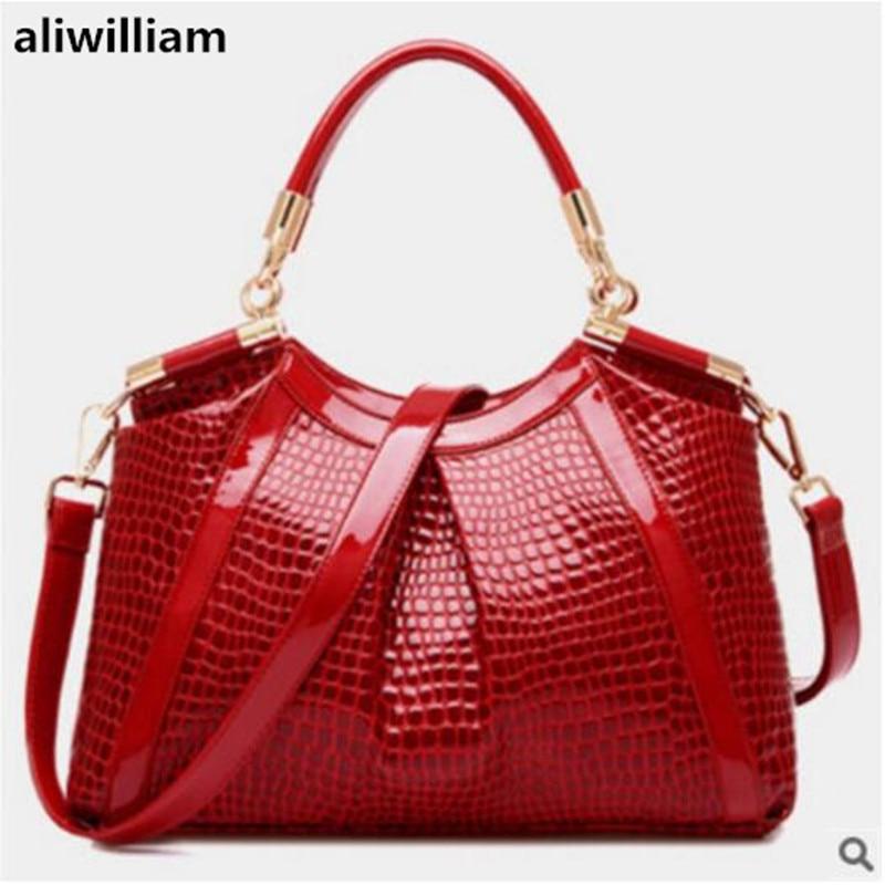 AliwilliamEuropean  American Style Fashion Handbags 2018 New Atmospheric Crocodile Pattern Ladies Handbag Shoulder Messenger Bag