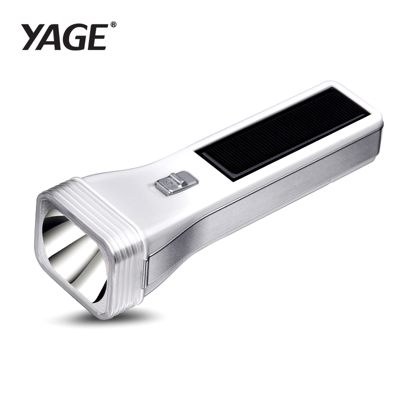 Ffrwd Flashlight LED Solar LED Power LED Arbed Dŵr Awyr Agored Amlswyddogaethol Flashlight Torch Hard Light 400mAh