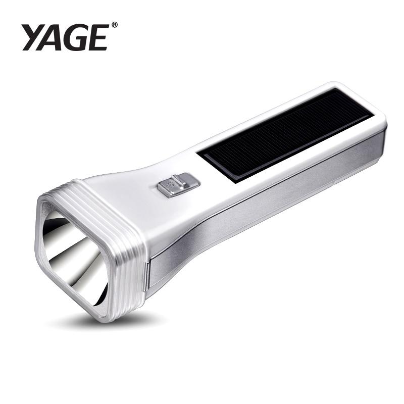 YAGE LED Solar Power LED Flashlight Outdoor Waterproof Energy Saving Multifunctional Flashlight Torch Hard Light 400mAh Battery