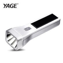 YAGE-3895/3897 Solar Engergy Charging LED Flashlight Rechargable Portable Torch Light 2-mode Lanterna Led Linterna Lampe Torche