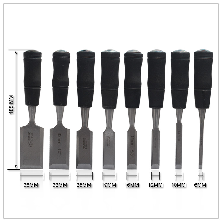 NEW 8PCS Butt Chisel Indurative DIY Carpentry Tools Wooden Carving Hewn Flat Chisel 6 38mm