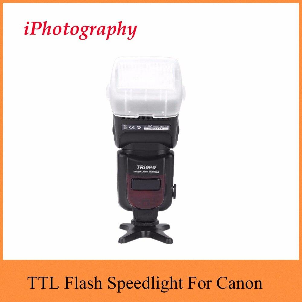 Triopo TR 586EX Draadloze Flash Modus TTL Flash Speedlight Speedlite Voor Canon EOS 550D 60D 5D Mark II als YONGNUO YN 568EX II-in Flitsen van Consumentenelektronica op  Groep 1