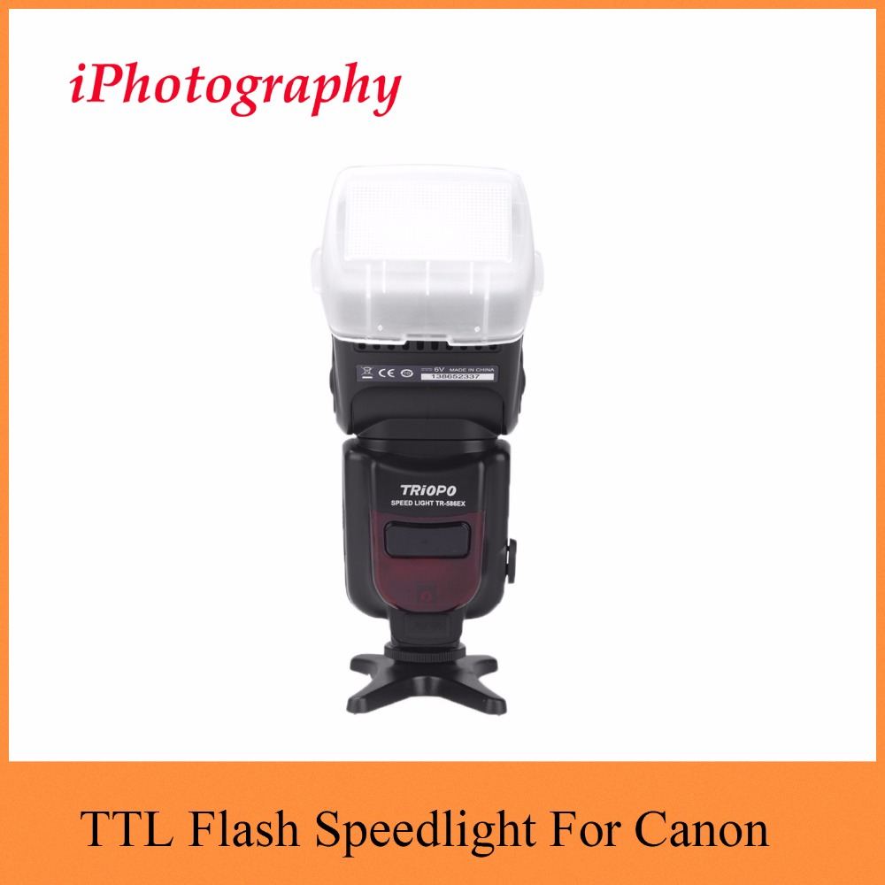Triopo TR-586EX Wireless Flash Mode TTL Flash Speedlight Speedlite For Canon EOS 550D 60D 5D Mark II as YONGNUO YN-568EX II цена 2017