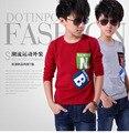 Meninos casaco longo-manga comprida T-shirt 2015 primavera meninos das crianças roupas meninos roupas crianças t camisas dos miúdos