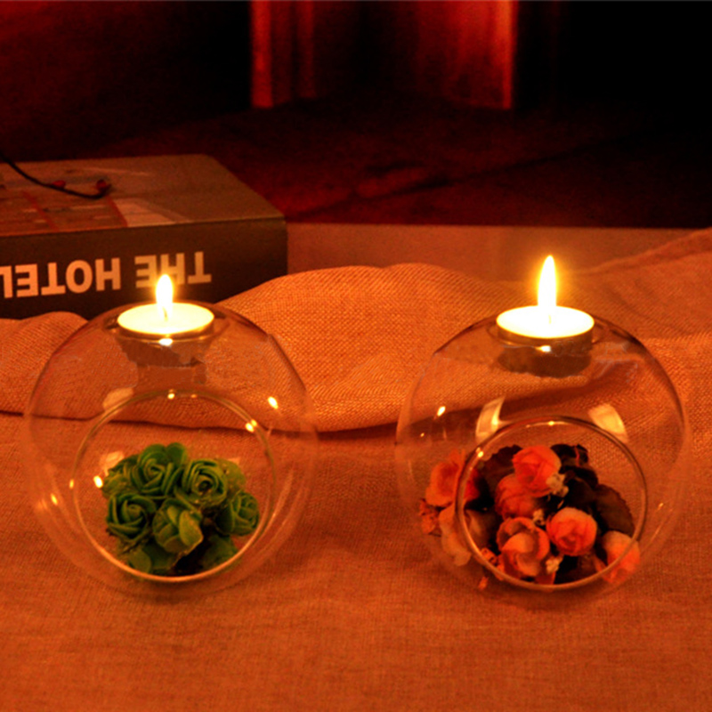 Настольная стеклянная подсвечник Террариум безделушка прозрачная ваза Свадебный домашний декор