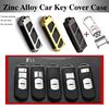 3D Metal Remote Protective Shell Car Key Case Chains Key Bag For Mazda CX 4 Axela