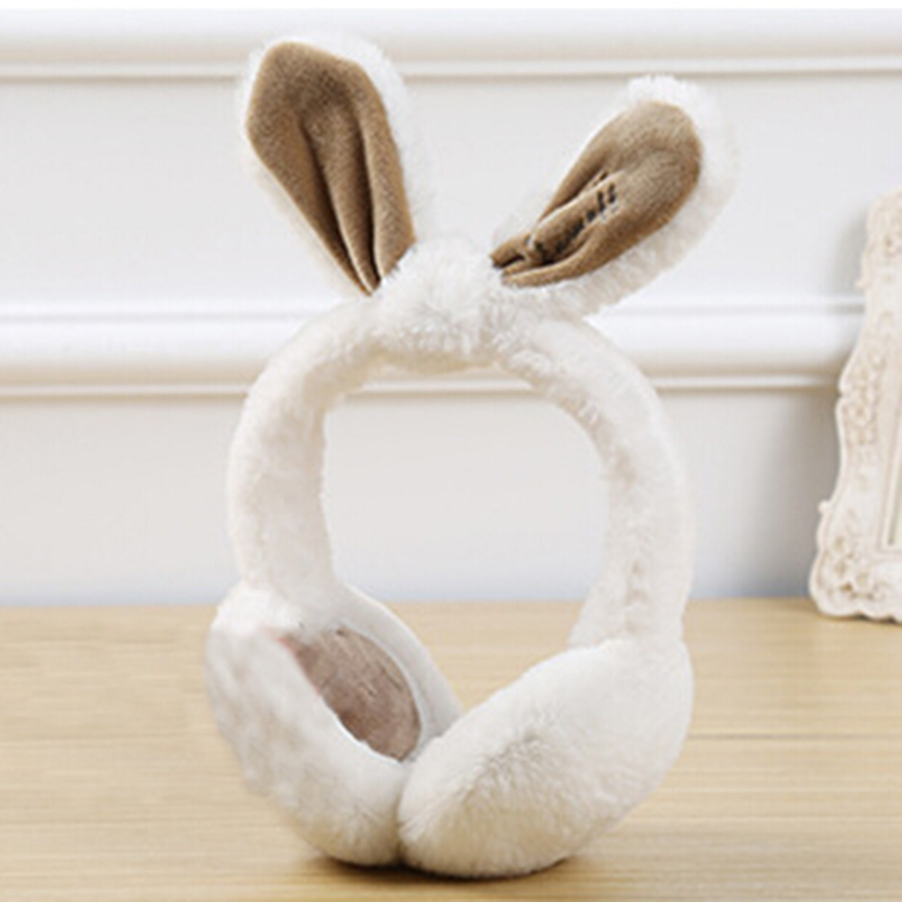 1 Pc  Fashion Foldable Cute Rabbit Fur Winter Earmuffs For Women Girls Warm Earmuffs Ear Warmers Gifts Cover Ears