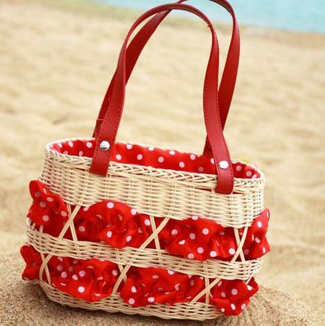 Free Shipping 2013 Hot Sale beach bag gentlewomen handbag straw bag red woven bag all-match bags small Higf Quality