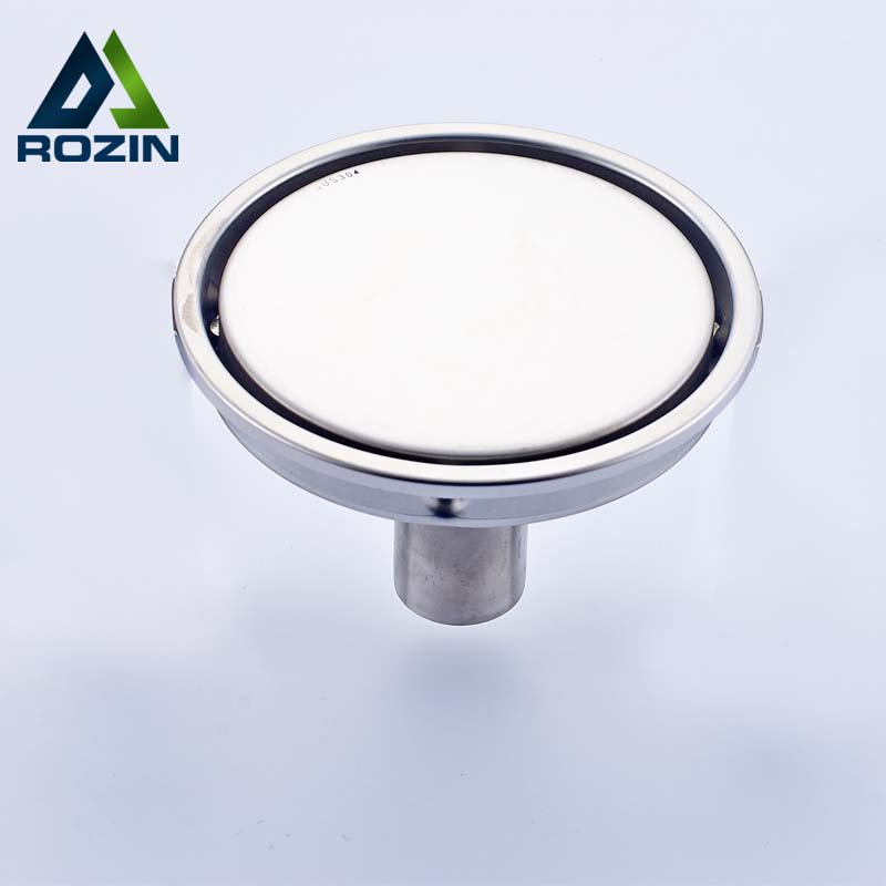 Free Shipping Stainless Steel Round Anti-odor Shower Drain Bathroom Floor Waste Drain 11cm Invisible Shower Floor Drain