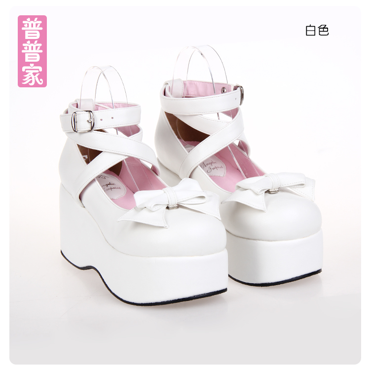 Princess sweet punk shoes The spring and Autumn period of Japanese sweet soled shoes with Lolita slope platform shoes pu9812 сабо sweet shoes sweet shoes sw010awtrl49