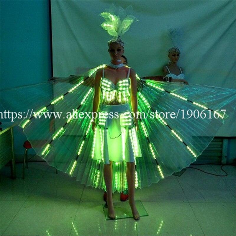 Mode bunte led leuchtende abend party dress sexy frauen leuchten - Partyartikel und Dekoration - Foto 4