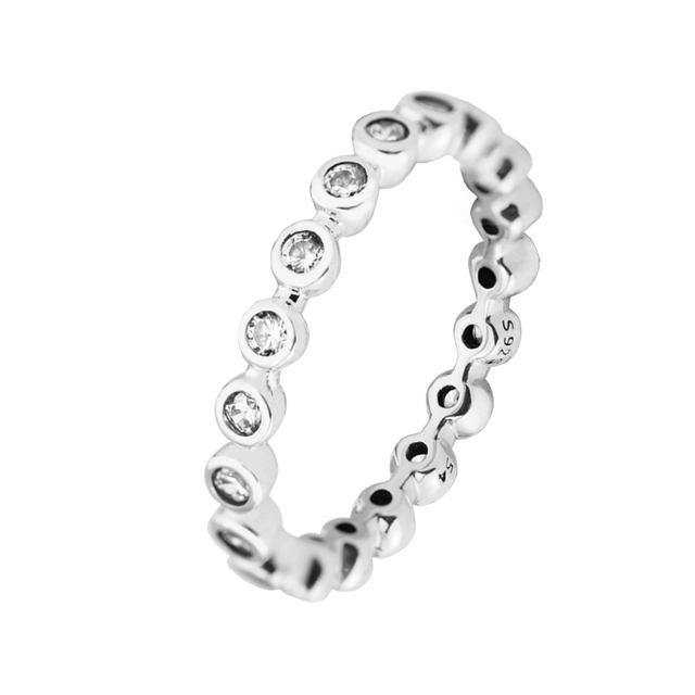 44ed921b6 925 Silver Jewelry Rings for Women Make Up Eternity Ring Size 52-58# Genuine