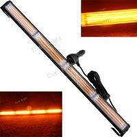 CYAN SOIL BAY 72W Amber COB LED Strobe Flash Traffic Emergency Warning Light Bar Beacon 12 24V