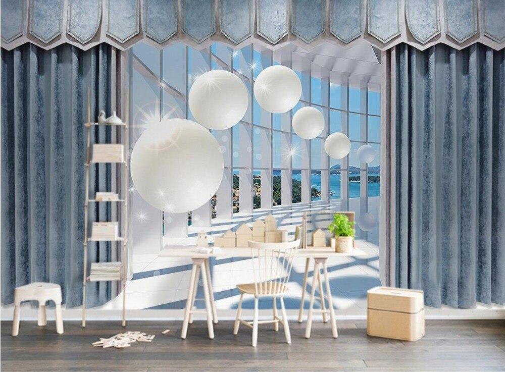 US $20.58 58% OFF|Tapete Moderne 3d stereoskopische Ball Schlafzimmer  Tapete Vorhang Raum Druck 3d Fotos Europäischen wohnzimmer TV  Hintergrund-in ...