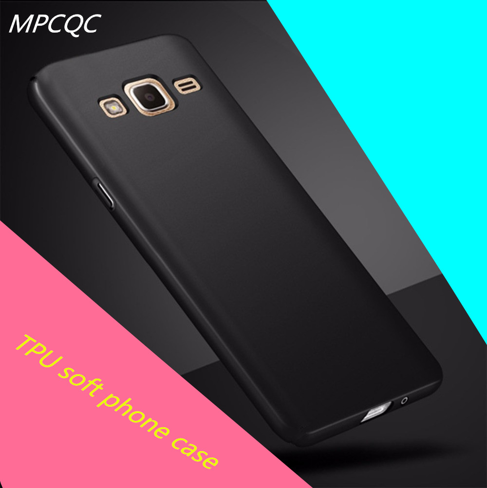MPCQC Phone Case For Samsung Galaxy J2 Prime TPU Soft Silicone Black Luxury Cover Ultra Thin Phone Bag Case For J2 Prime