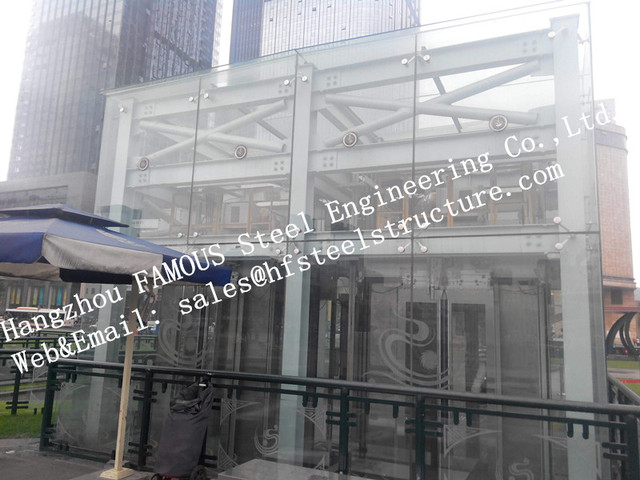 Chinese Maker Fully Spider Ing Frameless Glass System Curtain Wall Stainless Steel Fin