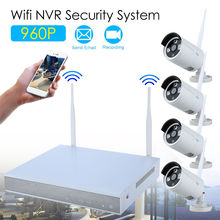 Blueskysea  960P HD Wifi Wireless IP Camera Security CCTV System 4Pcs 1.3MP Camera Plug&Play Night Wireless For In/Outdoor 12V