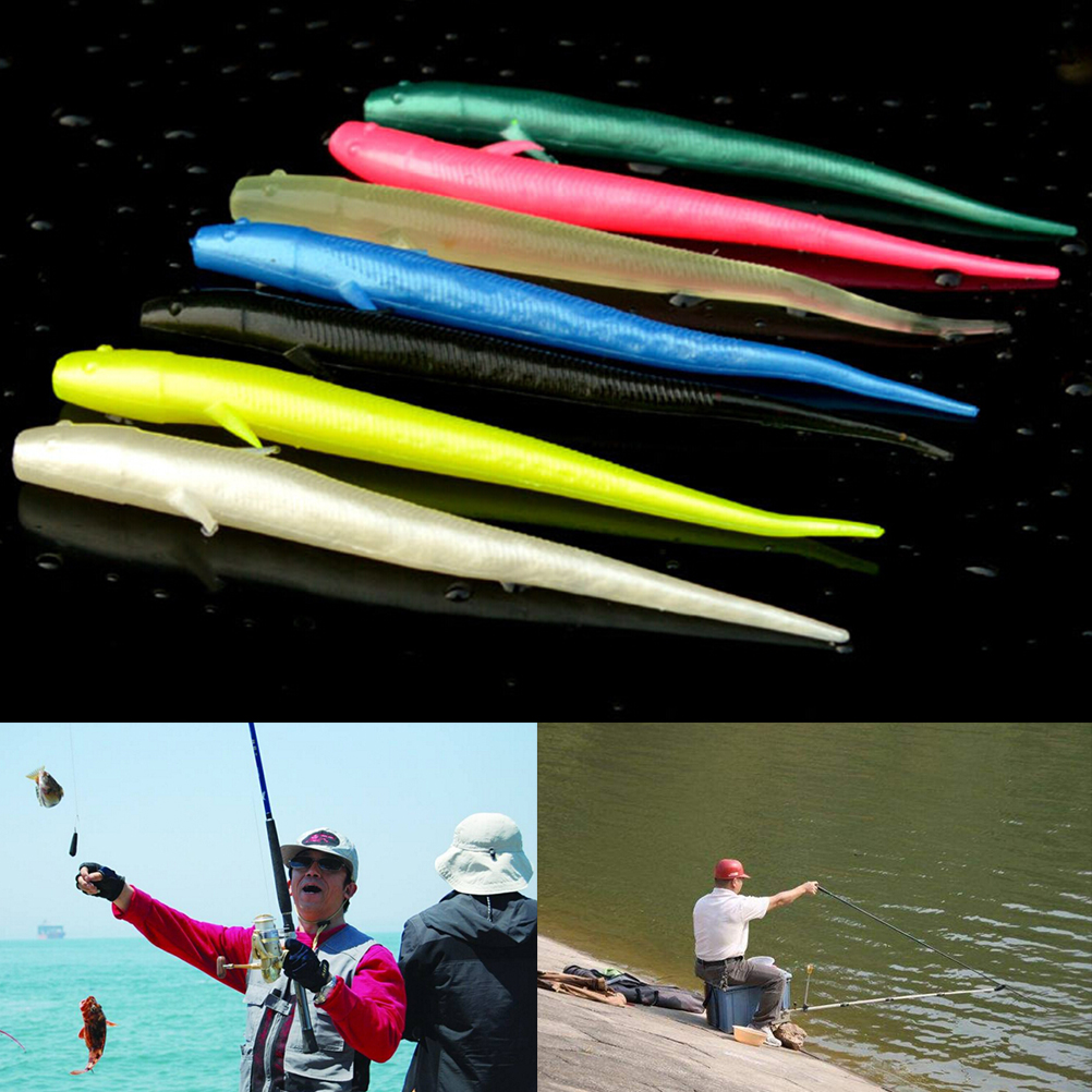 70mm Worm artificial Carp Fishing Tackle Silicone Lure For Fishing Soft Bait 10pcs