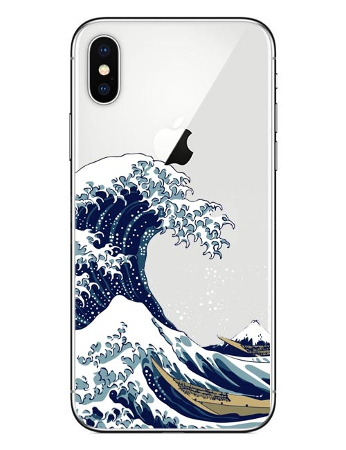 the best attitude 10a38 0ab37 The Great Wave Off Kanagawa Van Gogh Starry Night Hard PC Phone Case For  Iphone