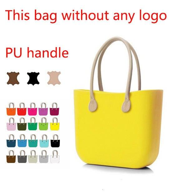 64777c0dc O bag jelly bag eva bag with Natural Long Faux Leather Handles obag beach  bag obag with inner canvas zip bag obag silicone bag