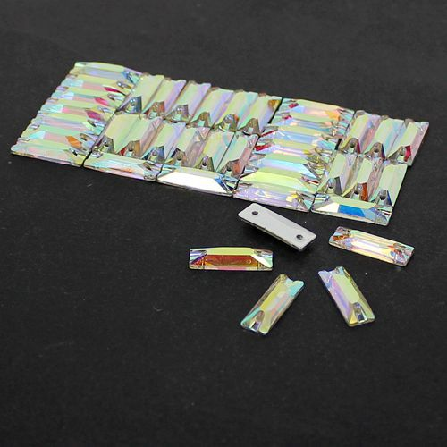 All Size Glass Crystal Cosmic Baguette Sew On Stones Crystal Clear AB  Flatback 5 15mm e77c3014ce3e