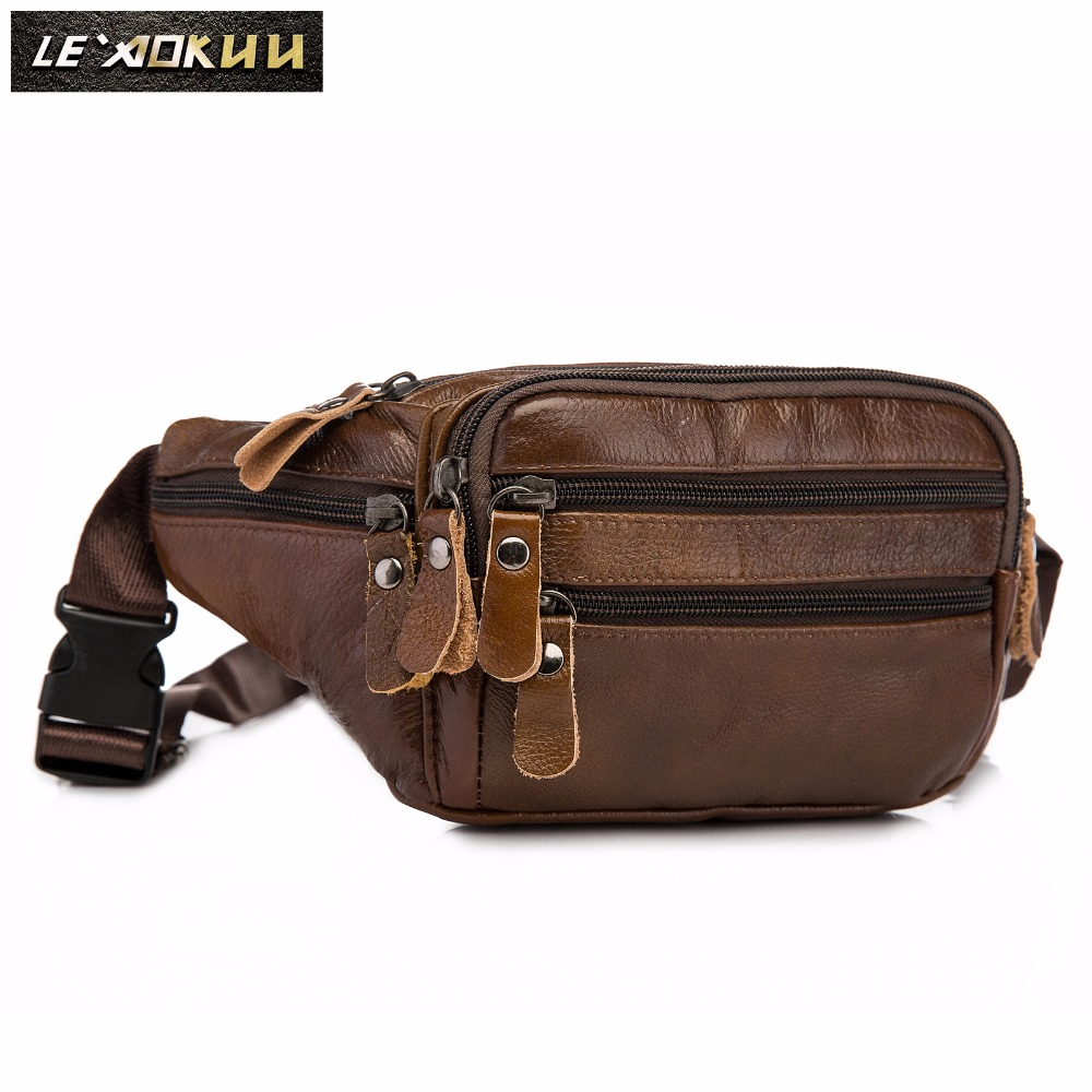 New Quality Leather Men Casual Fashion Travel Waist Belt Pack Sling Bag Design 7