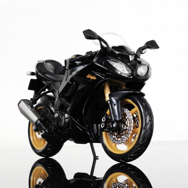 Maisto 1 12 Kawasaki Ninja ZX 10R Motorrad Modell Geburtstagsgeschenk Sammlung Schwarz Und Goldene