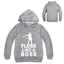 2019 Floss Like A Boss Funny Dance Graphic Print Hooded Kids Hoodies Girls Sweatshirts Hip Hop Streetwear 2-16Y Fall