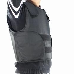 Пуленепробиваемый жилет из кевлара, размер L, черный, с сумкой, бесплатная доставка