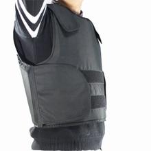 Chaleco a prueba de balas de Kevlar, armadura corporal de policía, talla L, Color negro, con bolsa, envío gratis