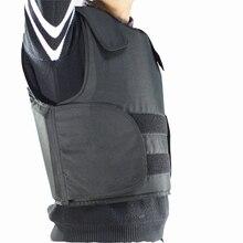 Darmowa wysyłka kamizelka kuloodporna Kevlar policja kamizelka kuloodporna rozmiar L czarny kolor z torbą