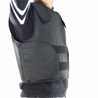 FREE Shipping Kevlar Bulletproof Vest Police Body Armor Size L Black Color With Bag