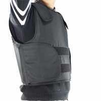 FREE Shipping Kevlar Bulletproof Vest Police Body Armor Size L Black Color With Bag