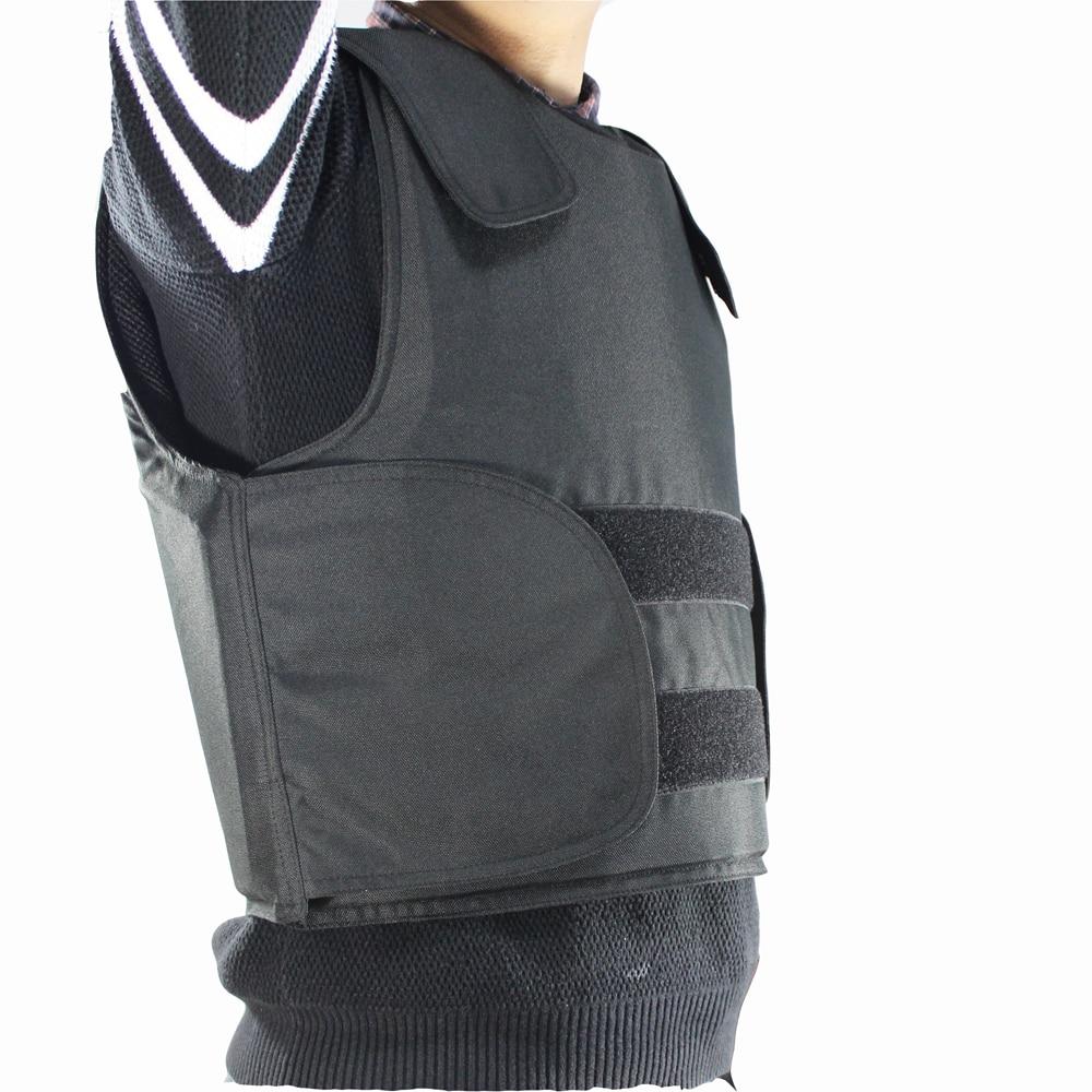 Livraison gratuite gilet pare-balles Kevlar armure de corps de Police taille L couleur noire avec sac