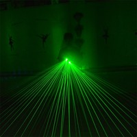 Hot Sale Green Laser Man Gloves With 5 Pcs Lasers With Led Green Palm Lights Laserman Show Gloves For Event & Party Supplies