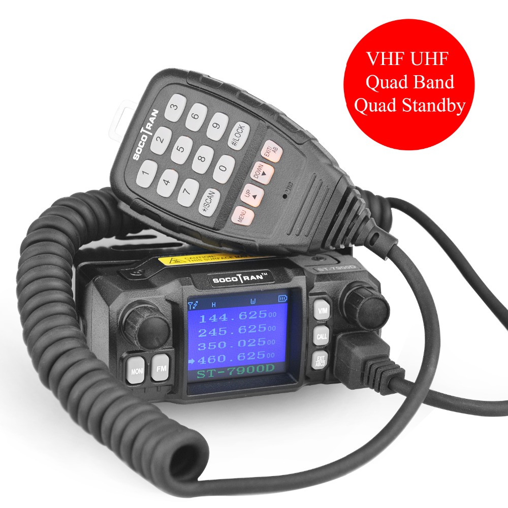 À Moscou De Voiture Mobile Talkie Walkie Amateur Jambon Radio Véhicule Émetteur-Récepteur 136/220/350/440 MHZ 4 bandes UHF VHF Mobile autoradios - 6