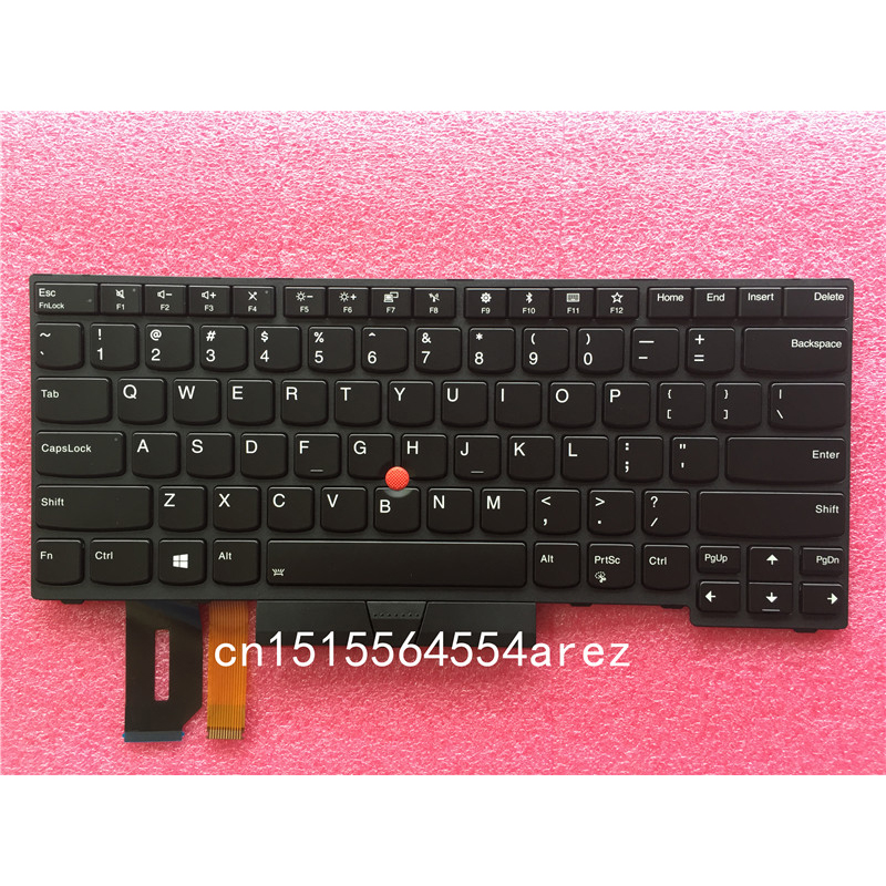 New Original laptop Lenovo ThinkPad THINKPAD T480S E480 L380 L480 Backlit Keyboard with Trackpoint US English